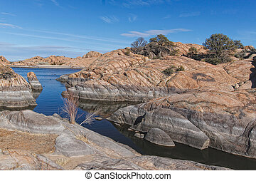 AZ-Prescott-Granite Dells - Willow Lake in the Granite Dells...