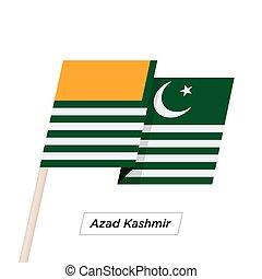 Azad Kashmir Ribbon Waving Flag Isolated on White. Vector ...
