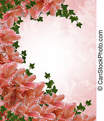Azaleas Floral Invitation Borde - art, artistic, azalea,...