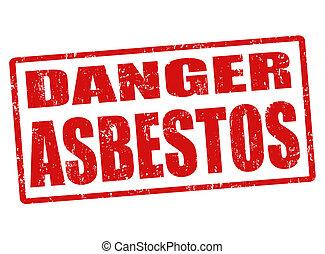 azbeszt, bélyeg, veszély