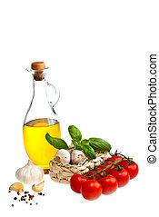 azeite oliva, alho, tomates