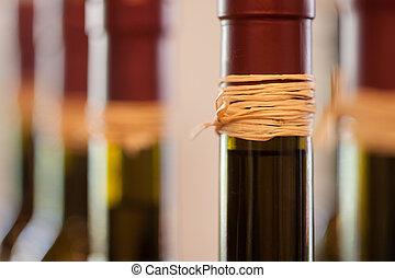 azeitona, macro, abstratos, óleo, garrafas