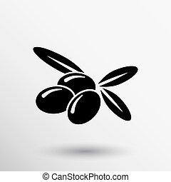 azeitonas, logotipo, desenho, vetorial, modelo, ícone, símbolo