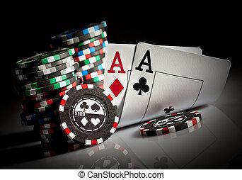 azen, gokkende spaanders