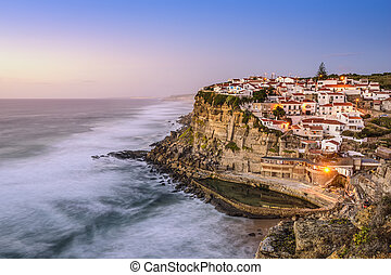 Azenhas Do Mar, Portugal - Azenhas Do Mar, Sintra, Portugal...