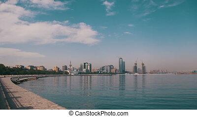 Embankment of Baku - AZERBAIJAN, BAKU, MAY 9, 2017:...