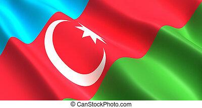Azerbaijan flag 3D