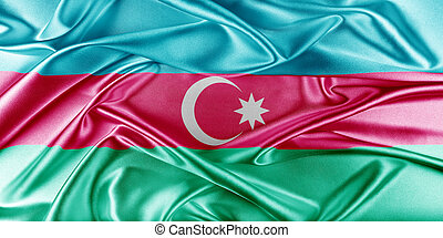 Azerbaijan Flag - Azerbaijan Flag. Flag with a beautiful...