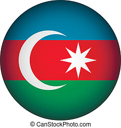 Azerbaijan flag button.