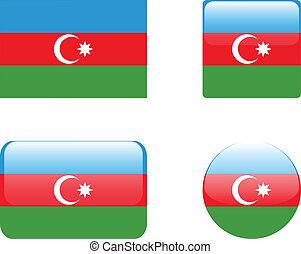 Azerbaijan flag & buttons