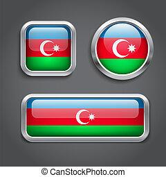 Azerbaijan flag  buttons