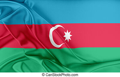 Azerbaijan Flag. Flag with a beautiful glossy silk texture.