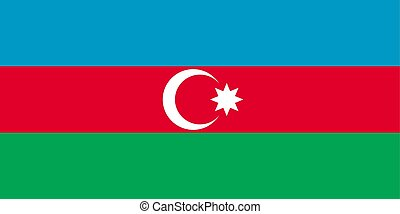 Azerbaijan flag, flat layout, vector illustration