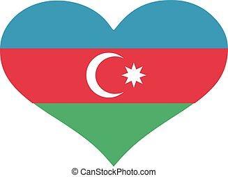 Azerbaijan flag heart