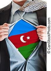 Azerbaijan flag on shirt