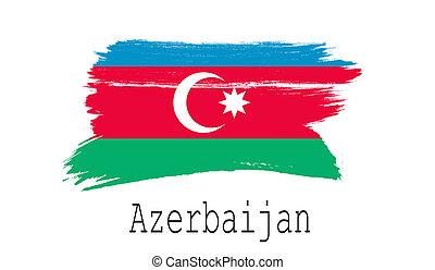 Azerbaijan flag on white background