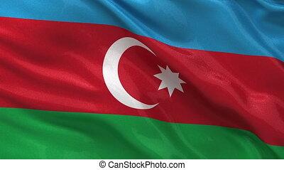 Azerbaijan flag seamless loop