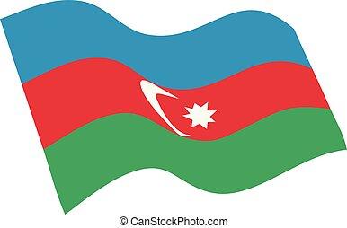 Azerbaijan flag vector