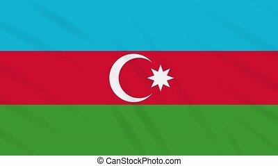 Azerbaijan flag waving cloth background, loop