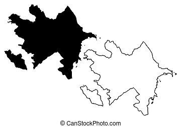 Azerbaijan map vector