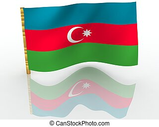 Azerbaijan. National Flag