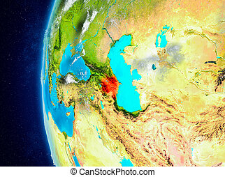Azerbaijan on Earth from space