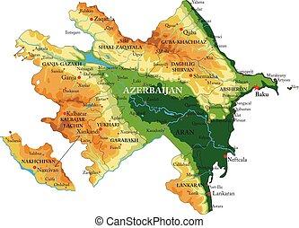 Azerbaijan relief map