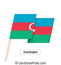 Azerbaijan Ribbon Waving Flag Isolated on White. Vector ...