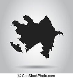 Azerbaijan vector map. Black icon on white background.
