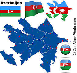 Azerbaijan vector set.