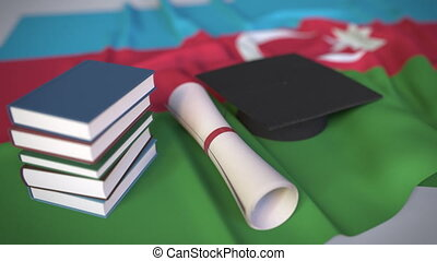azerbaijan, verwandt, begrifflich, diplom, flag., bildung,...