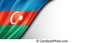 Azerbaijani flag isolated on white banner - Azerbaijan flag ...