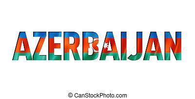 azerbaijani flag text font. azerbaijan symbol background