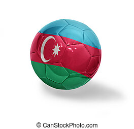 Azerbaijani Football - Football ball with the national flag...