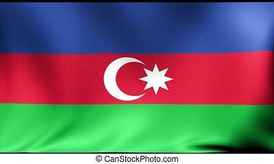 Azerbajdzhan Flag. Background Seamless Looping Animation.
