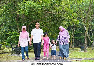 aziatische familie, levensstijl