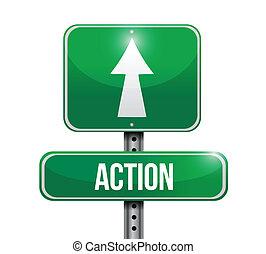 azione, disegno, strada, illustrazione, segno