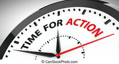 azione, orologio, -, tempo