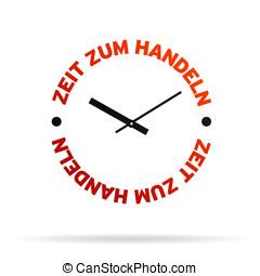 azione, orologio tempo