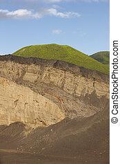 Azores coastline volcanic landscape in Faial island. Ponta ...