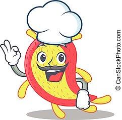 Azorhizobium caulinodan chef cartoon design style wearing ...