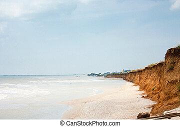 Azov sea and cliff, Ukraine