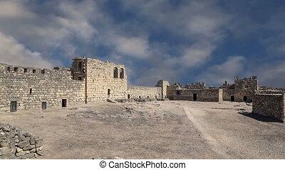 Azraq Castle, central-eastern Jordan - Ruins of Azraq Castle...
