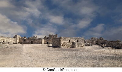 Azraq Castle,central-eastern Jordan - Ruins of Azraq Castle,...