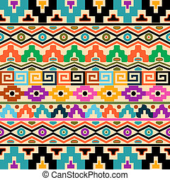 Aztec background - Vector seamless background with geometric...