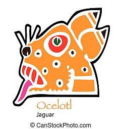 Aztec Calendar Ocelotl-Jaguar Icon