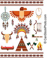 Aztec decorative elements - Aztec and Mayan Indian...