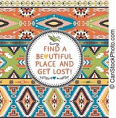 Aztec decorative seamless pattern