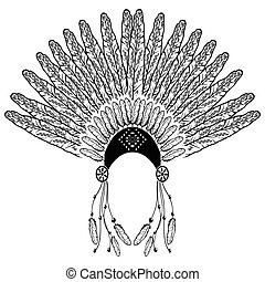 Aztec, ethnic style headdress
