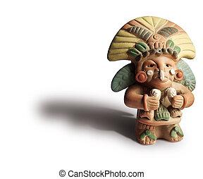 aztec, figurine